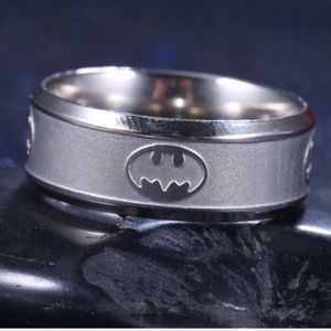 Batman Stainless Steel Ring size 8